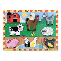 LCI3723 - Farm Chunky Puzzle in Wooden Puzzles