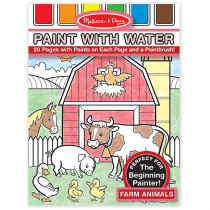 LCI4165 - Paint With Water Farm Animals in Art Activity Books
