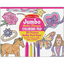 LCI4225 - Jumbo Coloring Pad Pink 11 X 14 in Art Activity Books