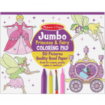 LCI4263 - Jumbo Coloring Pad Princess & Fairy in Art