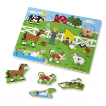 LCI738 - Old Macdonalds Farm Sound Puzzle in Knob Puzzles