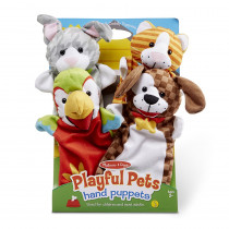 Playful Pets Hand Puppets - LCI9084 | Melissa & Doug | Puppets & Puppet Theaters