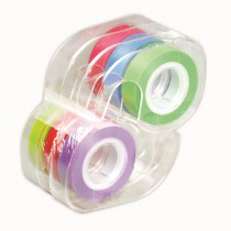 LEE13888 - Removable Highlighter Tape 1 Roll Each Of Six Colors in Tape & Tape Dispensers