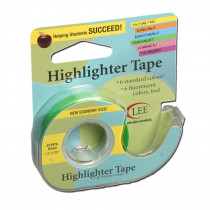 LEE13976 - Removable Highlighter Tape Green in Tape & Tape Dispensers