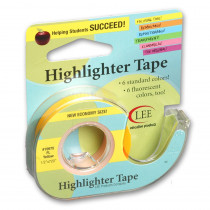 LEE19975 - Removable Fluorescent Yellow Highlighter Tape in Tape & Tape Dispensers