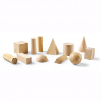LER0120 - Hardwood Geometric Solids 12-Pk in Geometry