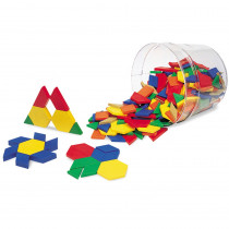 LER0134 - Pattern Blocks Plastic .5Cm 250/Pk in Blocks & Construction Play