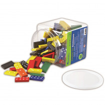 LER0287 - Dominoes Double-Six Color Bucket 6 Sets 168 Total in Dominoes