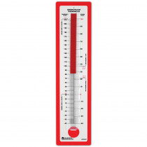 LER0301 - Demonstration Thermometer 24 X 5-3/4 Fahrenheit/Celsius in Weather