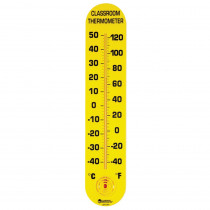 LER0380 - Classroom Thermometer 15H X 3W Fahrenheit/Celsius in Weather