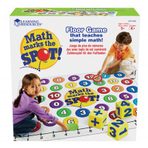 LER0383 - Math Marks The Spot A Math Activity Mat in Math