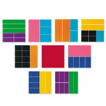 LER0619 - Delx Rainbow Fraction Squares 51/Pk in Fractions & Decimals