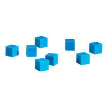 LER0924 - Base Ten Units Plastic Blue 100 Pk 1X1x1cm in Base Ten