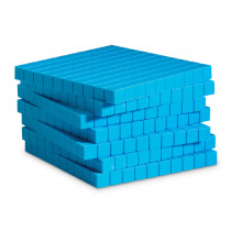 LER0926 - Base Ten Flats Plastic Blue 10/Pk 1X10x10cm in Base Ten