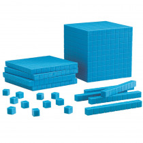 LER0930 - Base Ten Starter Set Plastic Blue 100 Units 30 Rods 10 Flats 1 Cube in Base Ten