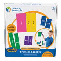 LER1617 - Double Sided Magnetic Fraction Squares in Fractions & Decimals
