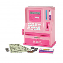 LER2625P - Pretend And Play Atm Bank Pink Teaching in Pretend & Play