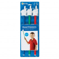 LER2655 - Hand Pointers 3-Set Assorted Colors in Pointers