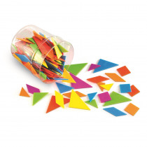 LER3554 - Classpack Tangrams In 6 Colors Brights in Patterning