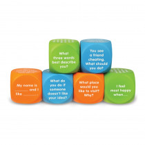 Let's Talk! Cubes, Set of 6 - LER6369 | Learning Resources | Classroom Activities