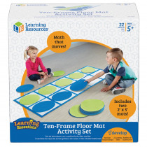 LER6651 - Ten Frame Floor Mat Activity Set in Base Ten
