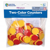 LER7566 - Two Color Counters Red And Yellow Set Of 200 in Measurement