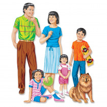 LFV22210 - Asian Family Flannelboard Set Pre-Cut in Flannel Boards