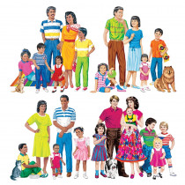 LFV22211 - Multicultural Families 4-Set Flannelboard Set Pre-Cut in Flannel Boards