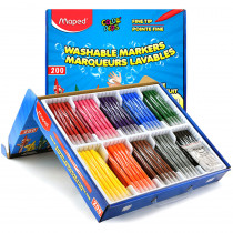 MAP845470 - Washable Markers School 200/Pk Color Peps Jungle Fine Tip in Markers