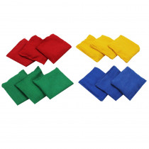 MASBB33 - Bean Bags 3 X 3 12-Pk Nylon Cover Plastic Bead Filling in Bean Bags & Tossing Activities