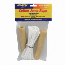 MASCJR8 - Jump Rope Cotton 8Wood Handle in Jump Ropes