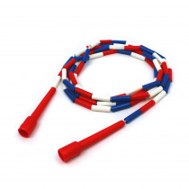 MASJR10 - Jump Rope Plastic 10 Sections On Nylon Rope in Jump Ropes