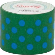MAV4711 - Mavalus Snazzy Lime W/ Blue Polka Dot Tape 1.5 X 39 in Tape & Tape Dispensers