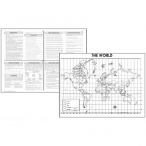 MC-M236 - Activity Posters The World 30/Set Gr 4-8 in Maps & Map Skills