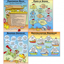 MC-P082 - Grammar Basics Teaching Poster Set in Language Arts