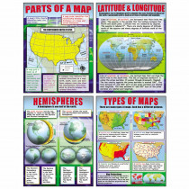MC-P222 - Basic Map Skills Teaching Poster Set in Social Studies