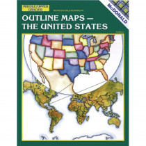 MC-R657 - Outline Maps The Us Gr 6-9 in Maps & Map Skills