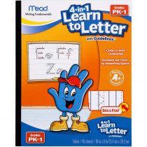 MEA48112 - Mead See And Feel Learn To Letter W/ Guidelines 40Ct Gr Pk-1 in Handwriting Skills