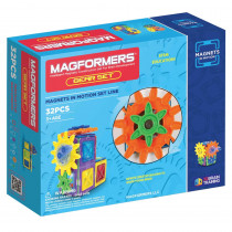 MGF63202 - Magnets In Motion 32Pc Gear Set in Blocks & Construction Play