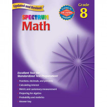MGH0769636985 - Spectrum Math Gr 8 Starburst in Activity Books