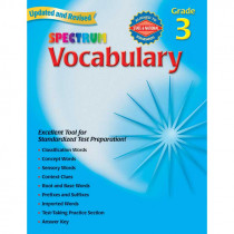 MGH0769680836 - Spectrum Vocabulary Gr 3 in Vocabulary Skills