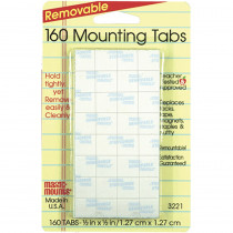MIL3221 - Wall Mounting Tabs 160 Tabs 1/2 in Adhesives