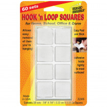 MIL3249W - Hook N Loop 7/8 Squares 60 Sts in Velcro