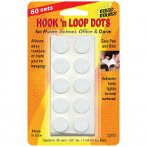 MIL3250W - Hook N Loop 5/8 Dots 60 Sts in Velcro