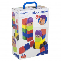 MLE32336 - Blocks Super 32 Pcs in Blocks & Construction Play