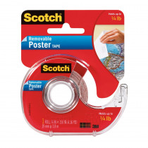 MMM109 - Tape Poster Removable 3/4 X 150 Clear in Tape & Tape Dispensers