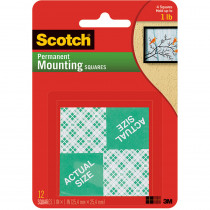 MMM111 - Mounting Squares 1 Inch 16 1In Squares Per Pk in Adhesives