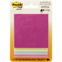 MMM5401 - Post-It Notes Pastel 4 Pads 50 Sheets Each in Post It & Self-stick Notes