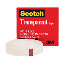MMM600121296 - Tape Transparent Film 1/2 X 1296 in Tape & Tape Dispensers