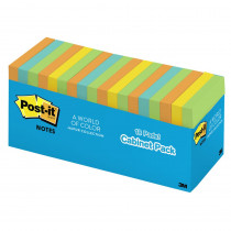 MMM65418BRCP - Post-It Notes In Cabinet Packs 3X3 Neon Colors 18 Pads in Post It & Self-stick Notes
